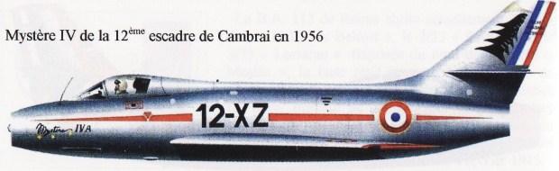 Mystère IV Cambrai 1956
