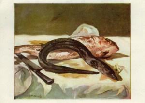 Anguille et rouget (1864) Boulogne sur mer Paris, Musée d'Orsay