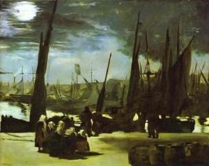 Clair de lune sur le port de Boulogne 1869 Musée d'Orsay, Paris
