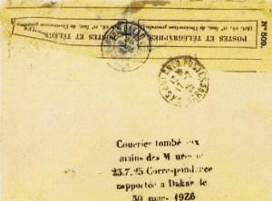 Lettre retrouvée dans le désert de Mauritanie