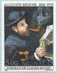 Portrait de Monet lisant