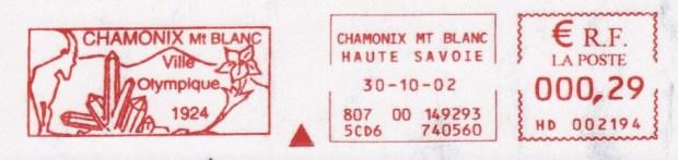Chamonix, ville olympique (E.M.A. commémorative des Jeux de 1924)