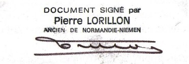 Signature Pierre Lorillon